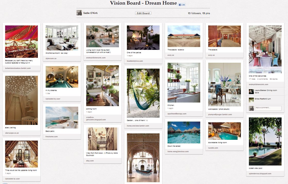 Pinterest the perfect online vision board creator wall for House creator online